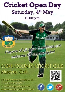 Cork Cricket Open Day at the Mardyke - Saturday 4th May