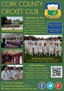 Cork County Cricket Club Information 2013