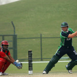 Gary Wilson batting against Oman Cricket