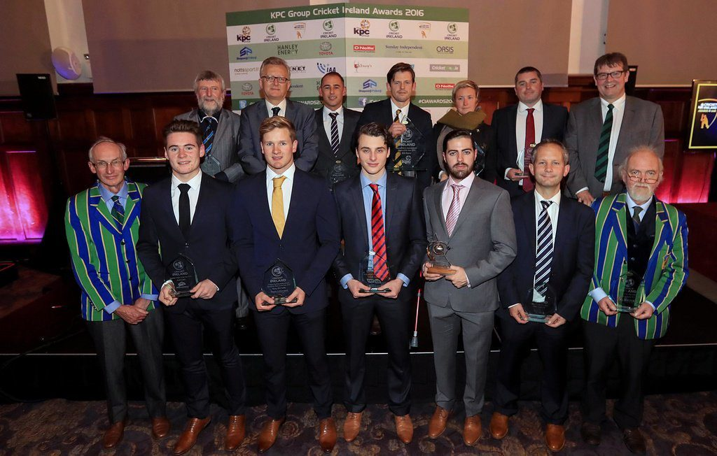 The winning line up from the 5th Annual Cricket Ireland Awards! #CIAwards2016