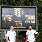 Ross Durity & Stephan Grobler following their 331 first wicket partnership_002