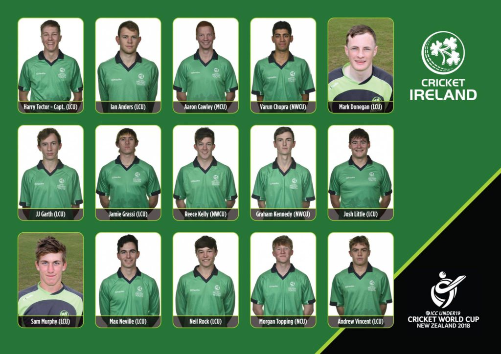 Ireland U19 World Cup Squad Announced