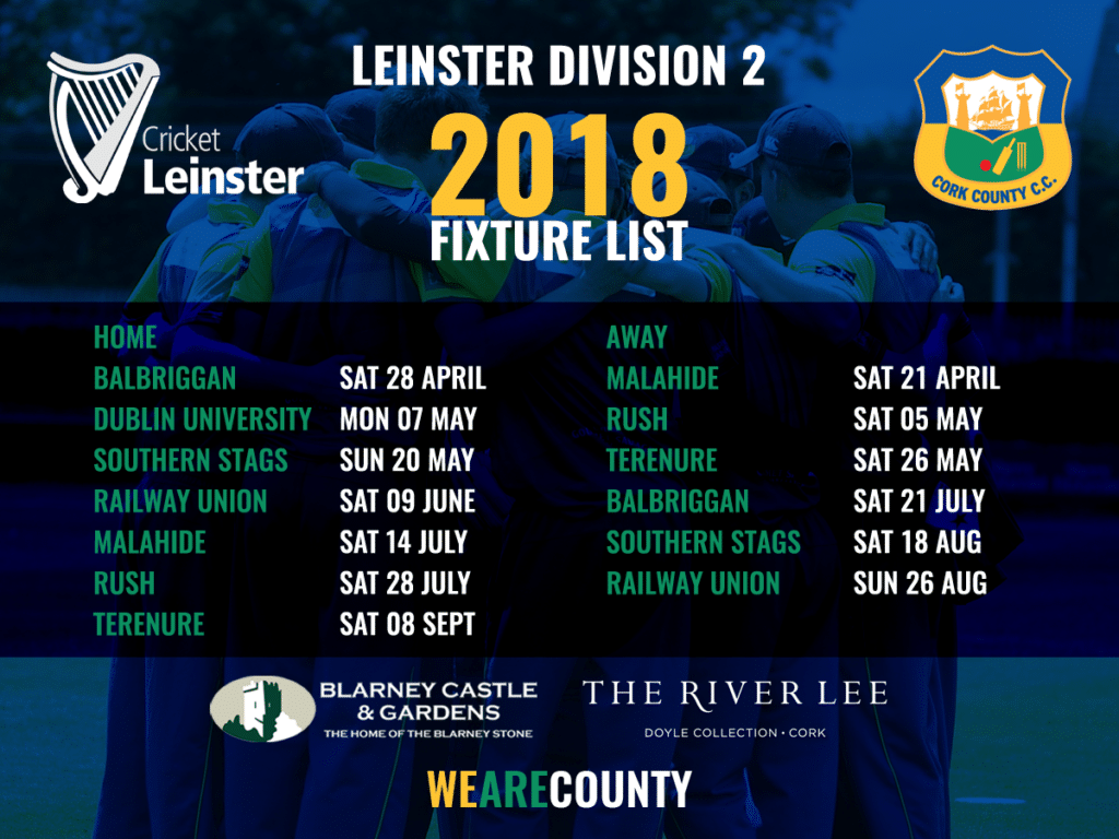 2018 Leinster Division 2 Fixtures