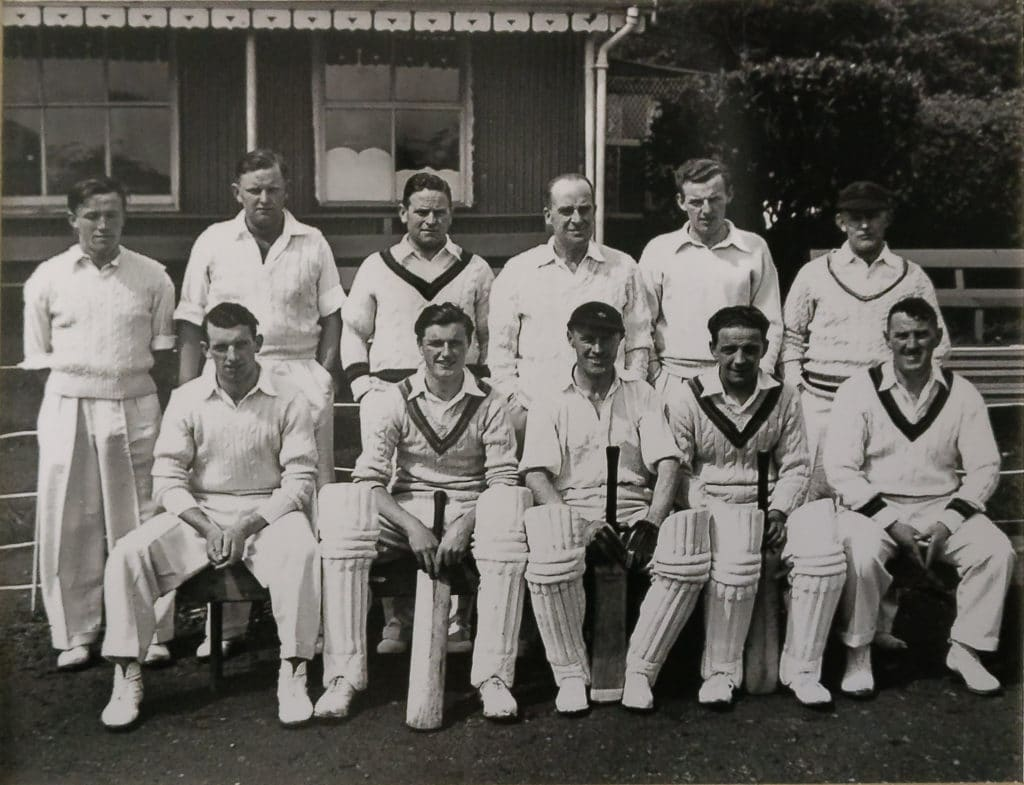 Noel Cantwell pictured with the Munster Cricket side at the Mardyke on 25th May 1951