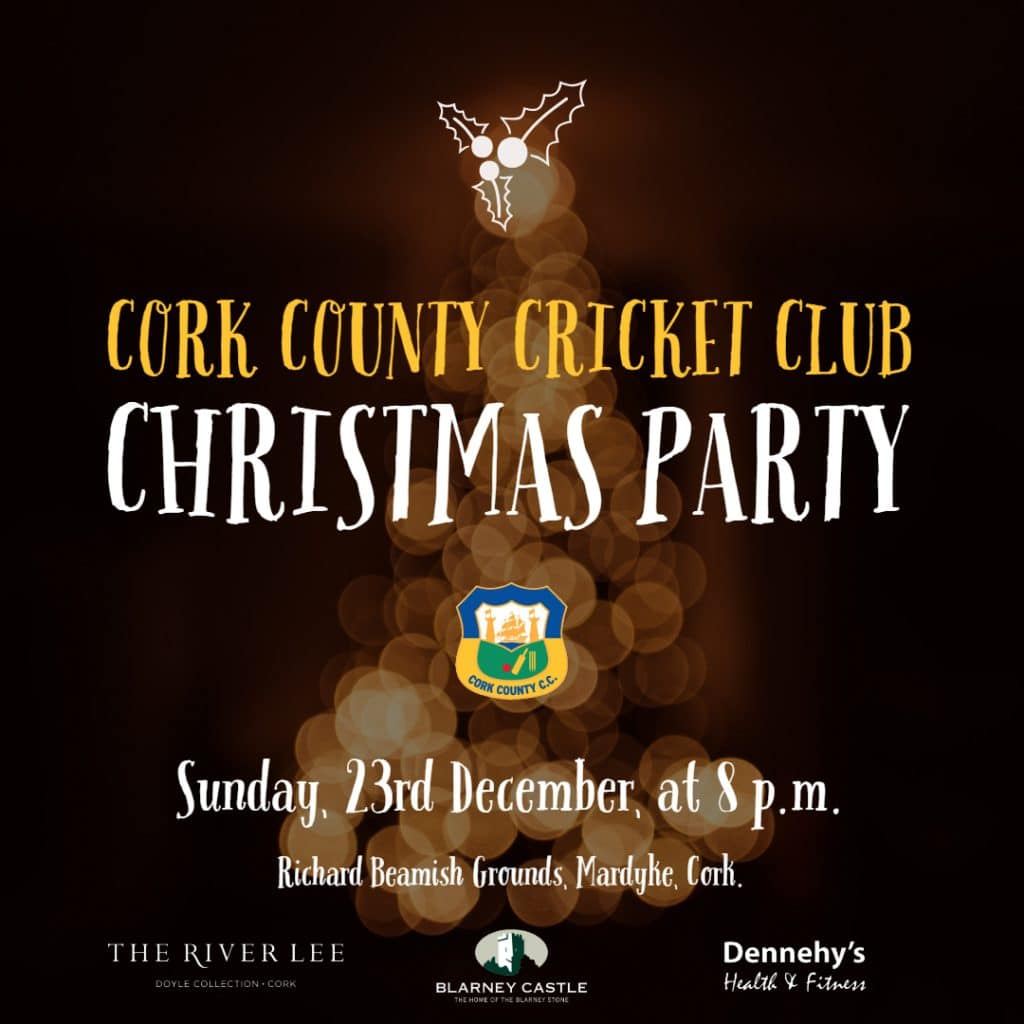 Cork County Cricket Club - Christmas Party 2018