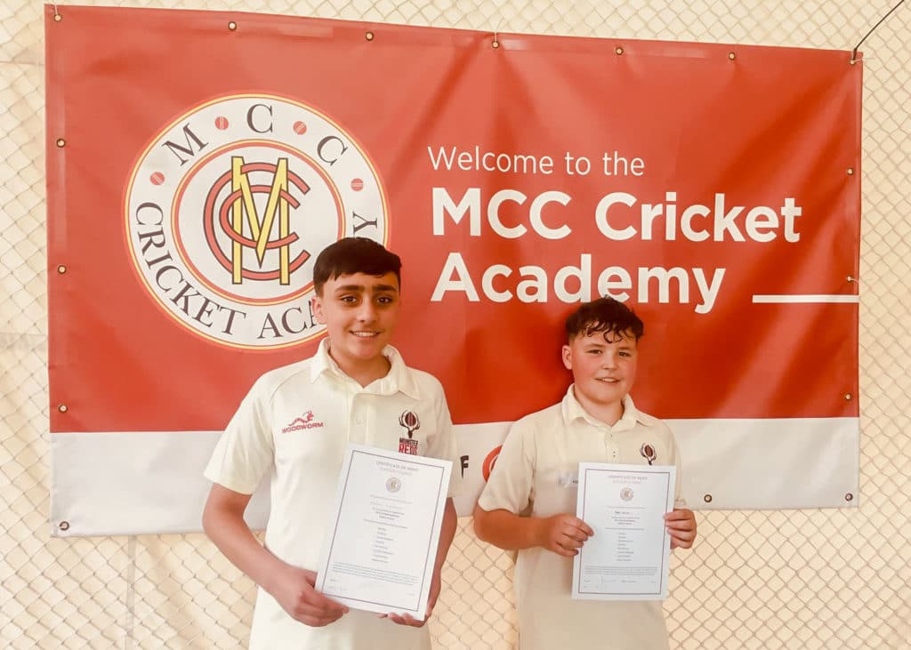 Eshan O'Sullivan & Harry Egerton at the MCC Academy