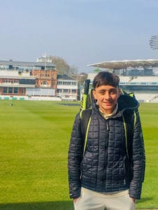 Eshan O'Sullivan at Lord's