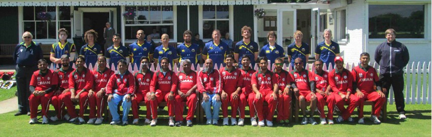Oman & Cork County squads during the T20 Challenge Series